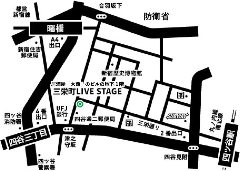 三栄町LIVE STAGEマップ